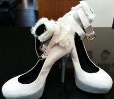 Womens KG by Kurt Geiger Faux Fur Sitletto heels in Size UK 6