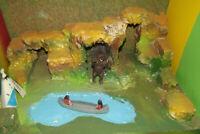 """"""" Felsen """" DIORAMA 1:32 für Timpo Toys, Elastolin, für 5 cm -7 cm Figuren"""