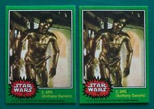 "(2) 1977 Topps Star Wars C-3PO ""Golden Rod"" Error & Corrected REPRINT Cards #207"