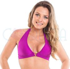 COQUETA Brazilian sexy swimsuit triangle bathing bikini PURPLE Halter tank top