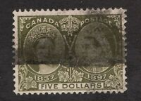 Sc65 - Canada - $5 - 1897 Diamond Jubilee - Used - superfleas - cv $1120