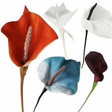 Large Velvet Calla Lily - Artificial Silk Flowers Spray Discounted Stem