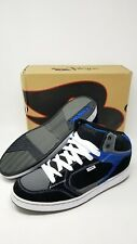 Tony Hawk THJULES Black Leather/Suede Skateboard Shoes Black Blue White Size 13M