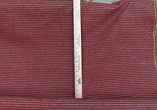 "Waverly Fabric ""Plush Stripe"" in Crimson 54"" Wide ~3.5 Yds - Reduced 15%"