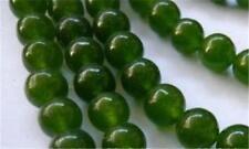 "6mm Dark Green Natural Emerald Gemstone Round Loose Beads 15"" Strand AAA"