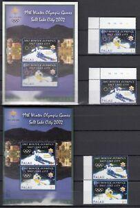 PALAU, 2002 Olympische Winterspiele 2082-83, 2120-21, Block 150, 154 **, (23292)