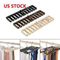 1*Closet Wardrobe Storage Rack Tie Belt Scarf Organizer Hanger Holder Rack Shelf