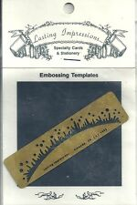 Outer Space or Grass Lasting Impressions Embossing Stencil Brass Template 1992
