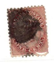$ Canada Scott #14B used, fine, heavy cancel