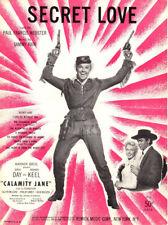 SECRET LOVE Music Sheet-1953-DORIS DAY/HOWARD KEEL-CALAMITY JANE