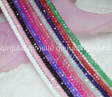 """Wholesale 10 Strand 2x4mm Faceted Multi-Color Gemstone Loose Beads 15"""" JL213"""