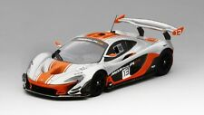 McLaren P1 Gtr #13 Silver & Orange 2015 1:43 Model TRUE SCALE MINIATURES