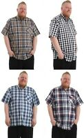 Mens Big Size Short Sleeve Casual Shirt with Chest Pocket Available in 2XL - 6XL