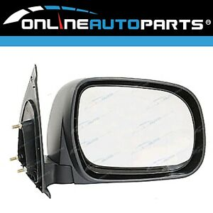 RH Black Manual Side Door Mirror for Toyota Hilux 2005-2015 Ute Right RHS
