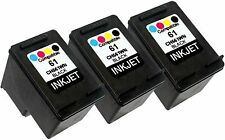 3PK FOR HP 61 CH561WN (New Gen) Deskjet 2547 3050A Envy 4500 5531 Officejet 2620