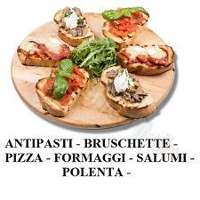 197037 TAGLIERE MANGIA PIZZA POLENTA ANTIPASTI DM.35 LEGNO PROFESSIONALE