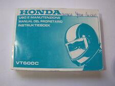 HONDA VT600C VT600 SHADOW 1997 USO E MANUTENZIONE OWNER MANUAL INSTRUKTIEBOEK