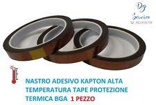 1 NASTRO ADESIVO KAPTON ALTA TEMPERATURA TAPE PROTEZIONE TERMICA BGA 10 mmX33M