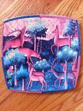 "Italian Ceramics Company ICC Caccia Renaissance Deer Friar PLATTER PLATE 10 3/4"""