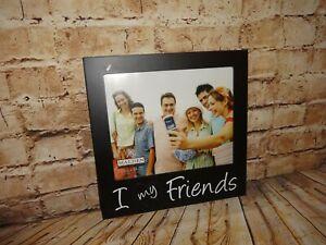 "Malden Hanging Frame Black White Holds 8x10 Photo I ""Heart Love"" My Friends 12"""