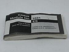 Casio 1031 ES Manual Watch Wristwatch