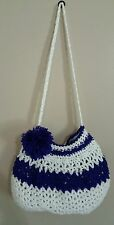 Between White and purple, Shoulder Bag, 12 inches long and 10 inches height