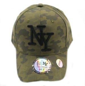Casquette NY Militaire Vert Kaki Réglable