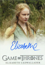 Game of Thrones Season 5 Autograph Card Elizabeth Cadwallader Lollys Stokeworth