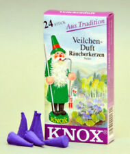 """Knox """"Violet"""" Incense Cones, 24 count - Direct From Germany"""