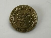 1836-1986 Vtg Colt Firearms Plastic Lapel Pin 150 Years OF Colt Craftmanship  F5