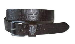 """Harley-Davidson Men's Scorching 1.5"""" Wide Brown Leather Belt HDMBT10613"""