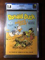 Four Color #9 (1942) - 1st Carl Barks Donald Duck! - CGC 1.8 - Key!