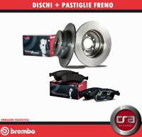 KIT DISCHI FRENO BREMBO + PASTIGLIE BREMBO FIAT PANDA 141A FIRE 750 900 1.0-1.1