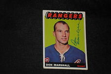 DON MARSHALL 1965-66 TOPPS SIGNED AUTOGRAPHED CARD #29 NEW YORK RANGERS