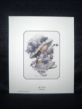 "Ruth Morehead ""Miss Violet"" Flower Cute Open Edition Lithograph"