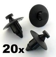 20x Plastic Rivet Fastener Clips- trim panels, bumper, fascias, linings