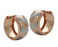 375 ECHT ROTGOLD *** Gold Creolen Ohrringe bicolor 16 mm