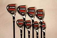 "CUSTOM MADE XDS HYBRID GOLF CLUBS 3-PW SET TAYLOR FIT GRAPHITE +2"" OVER SENIOR"
