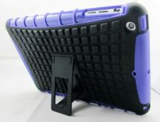 Purple Heavy Duty Strong Dual Layer Tough TPU Case Cover Stand for iPad Mini 1