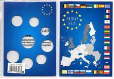 5 phare pièce en euro cartes d'affichage pour euro 8 coin set 1 cent à 2 euro
