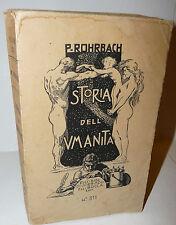Preistoria Roma Guerra Storia, P. Rohrbach: Storia dell'Umanità 1925 Bocca