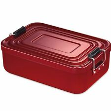 Cocina profesional Lunchbox lunch Box grande 23x15x7 cm rojo pan lata