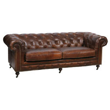 Chesterfield Design Luxus Polster Sofa Couch Sitz Garnitur Leder Textil Neu #Z3