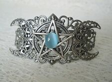 Triple Moon Pentacle Cuff Bracelet wiccan pagan wicca witch witchcraft pentagram