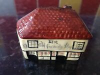 VINTAGE ARTONE SMALL MUSTARD POT COTTAGE DESIGN HAND PAINTED