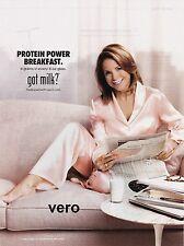 2013 magazine ad GOT MILK Katie Couric American TV journalist author talk show