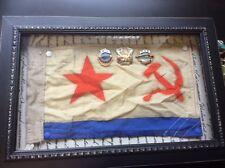 """Bandera naval soviética, (Jack pequeño, 6.5"""" X 8.5"""". en caso de presentación con soviético na"""
