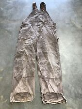 carhartt dungarees 40 Inch Waist 29 Leg Brown
