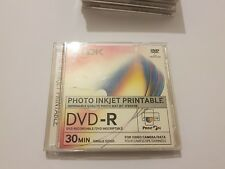 Lote 4 CD's TDK DVD-R PHOTO INKJET PRINTABLE  1.4 GB  for camara/data NEW/NUEVOS