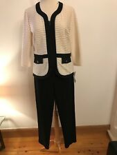Select by Hermann Lange fitted jacket, cream and black, size 12